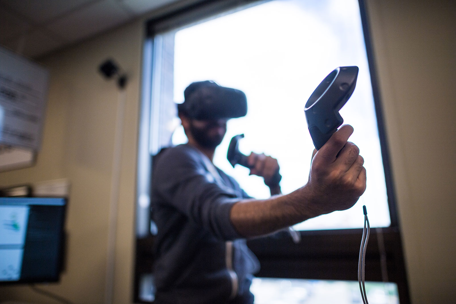 Neurable's technology will first launch in the gaming world, making augmented reality and virtual reality easier to control. Photo by Austin Thomason, Michigan Photography.
